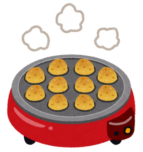 たこ焼きってなにげに最強の節約レシピだよな、薄力粉と油と卵一個とウインナー一本だけで2人前できる