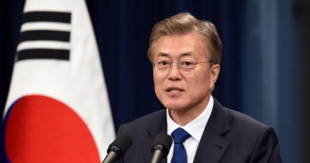 韓国大統領府、文氏の単独訪日を検討