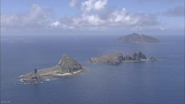 尖閣沖の接続水域 中国海警局の船4隻入る