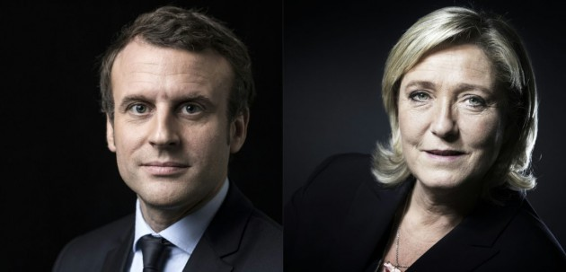 フランス大統領選 独立系のマクロン氏、極右のルペン氏が決選投票進出へ