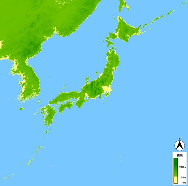 【悲報】日本列島さん、山がちすぎて住む場所が少ない…