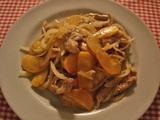 柿と豚肉炒め