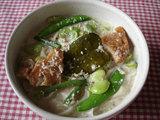 6・2昼食グリーンカレーヌードル