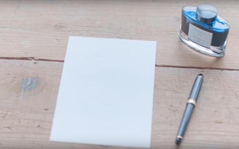 藍万年筆とインク