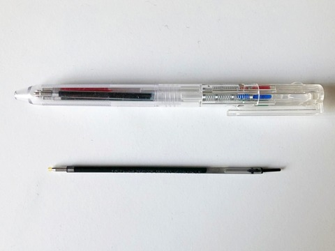 無印良品選べる3色ボールペンとビクーニャ替え芯