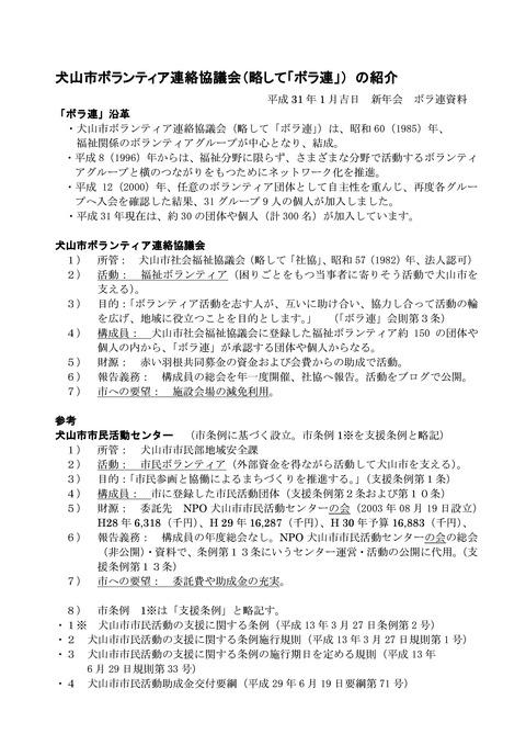 翌0119新年会_ ボラ連沿革_紹介