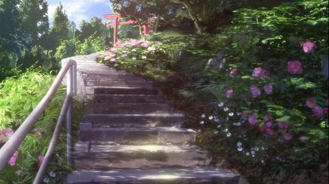 花咲くいろは 13話(神社へ続く階段)
