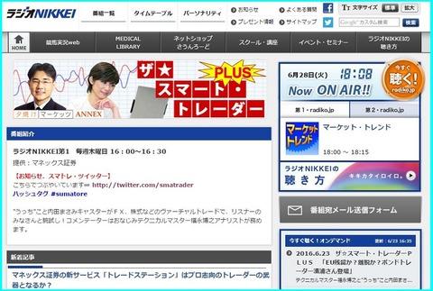 ラジオ日経ザ★スマートトレーダー