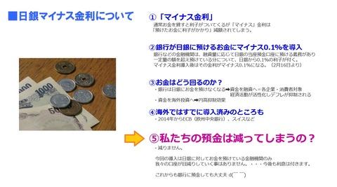 日銀マイナス金利について