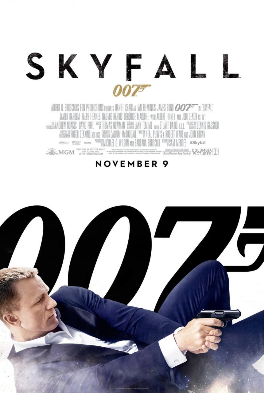 映画『007 スカイフォール SKYFALL』ポスター(3)▼ポスター画像クリックで拡大します。