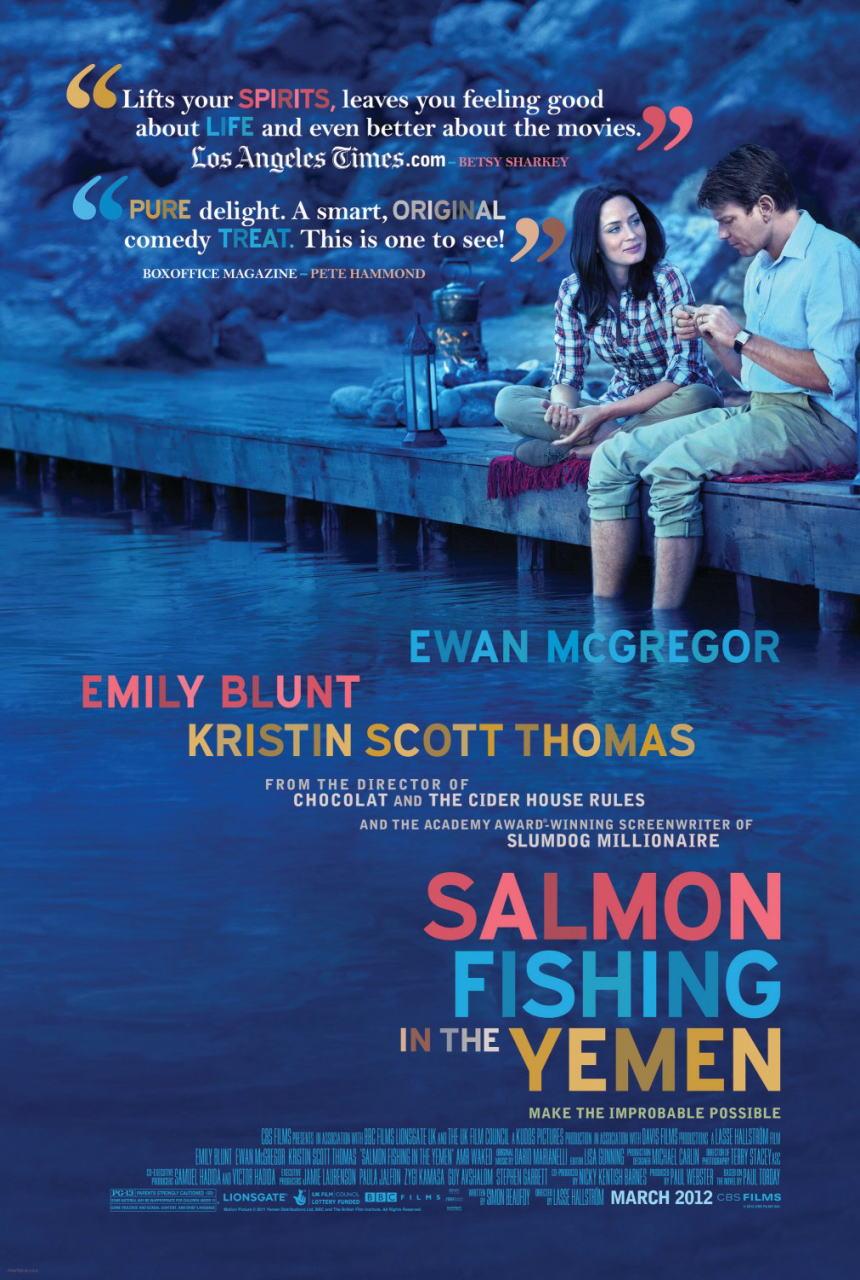 映画『砂漠でサーモン・フィッシング SALMON FISHING IN THE YEMEN』ポスター(1) ▼ポスター画像クリックで拡大します。