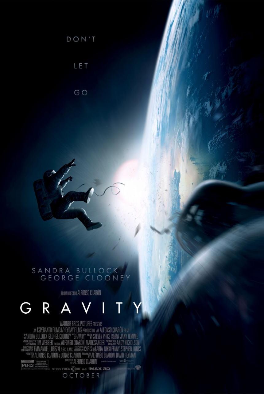 映画『ゼロ・グラビティ (2013) GRAVITY』ポスター(1) ▼ポスター画像クリックで拡大します。