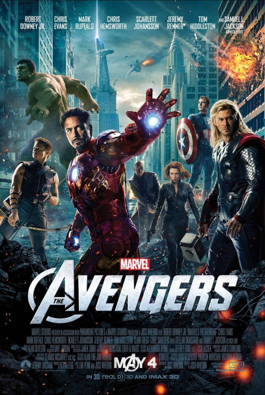 映画『アベンジャーズ THE AVENGERS』ポスター(1) ▼ポスター画像クリックで拡大します。