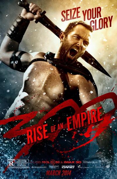 映画『300 <スリーハンドレッド> 〜帝国の進撃〜 (2014) 300: RISE OF AN EMPIRE』ポスター(2) ▼ポスター画像クリックで拡大します。