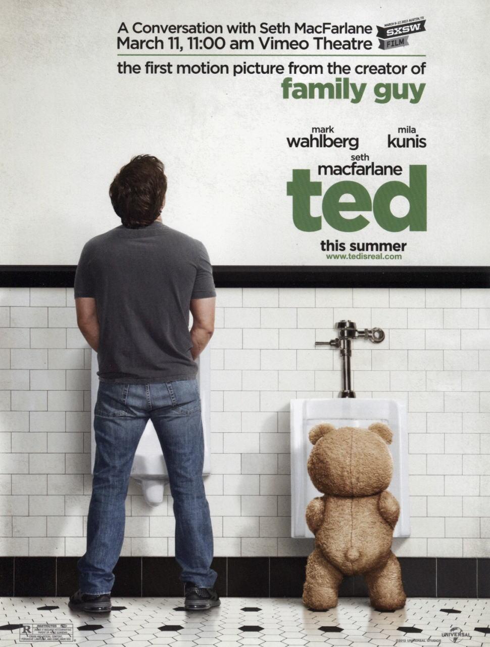 映画『テッド TED』ポスター(1)▼ポスター画像クリックで拡大します。