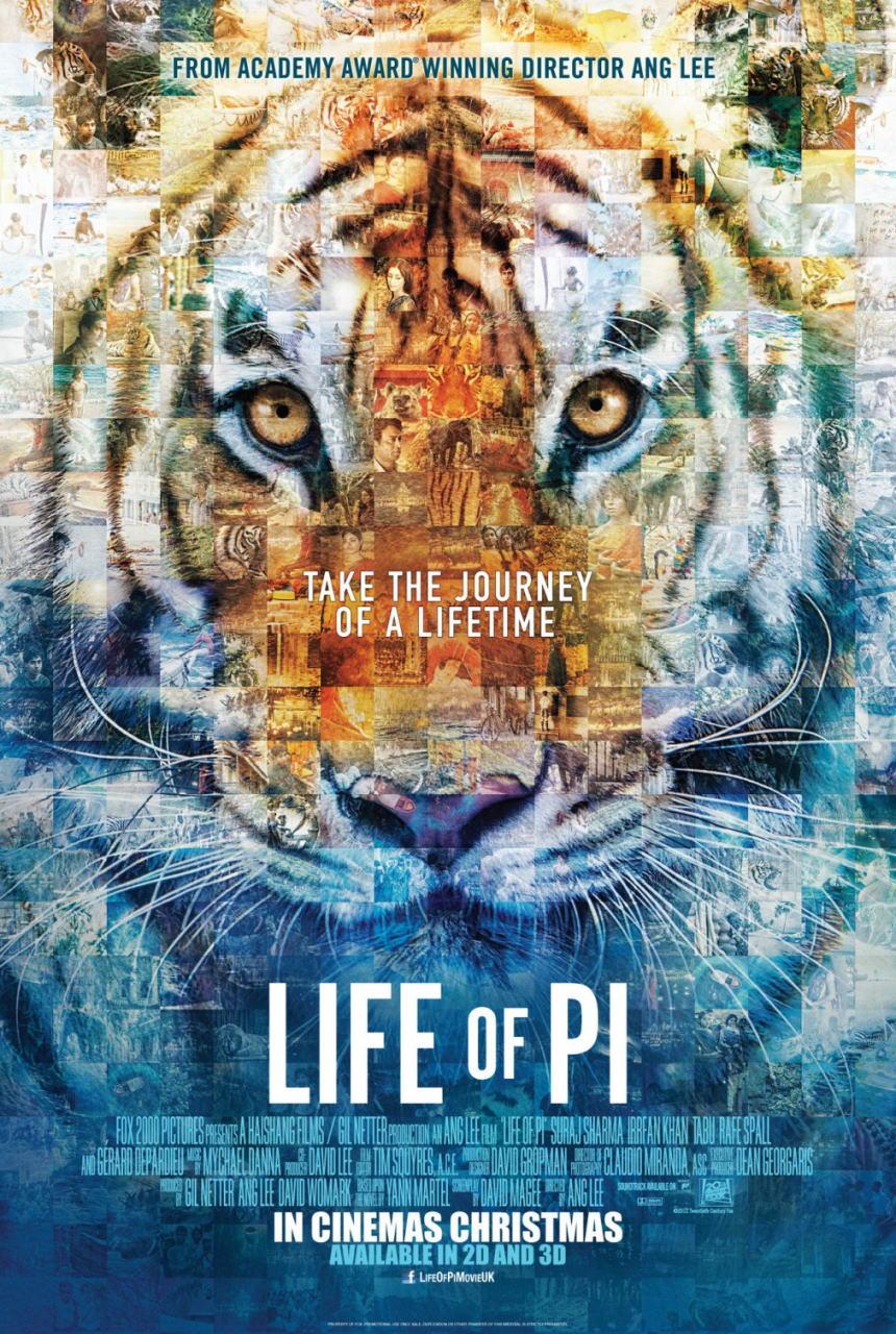 映画『ライフ・オブ・パイ/トラと漂流した227日 (2012) LIFE OF PI』ポスター(2)▼ポスター画像クリックで拡大します。