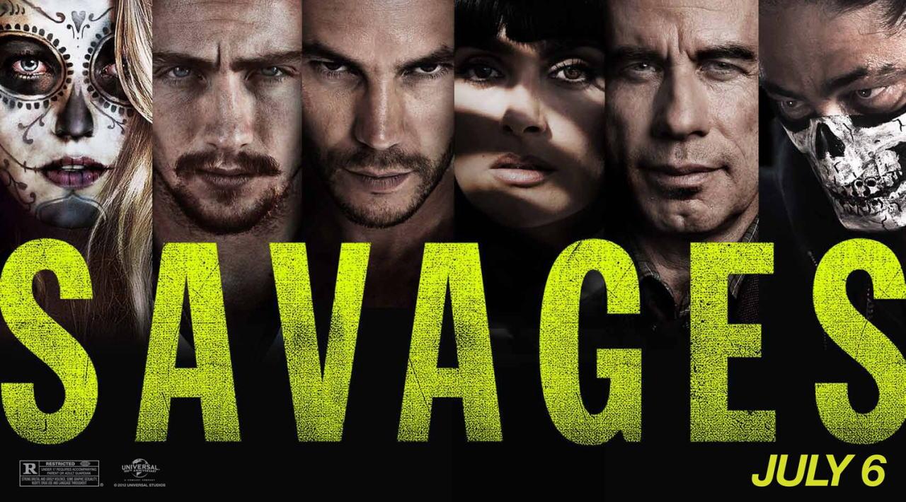 映画『野蛮なやつら/SAVAGES SAVAGES』ポスター(4) ▼ポスター画像クリックで拡大します。