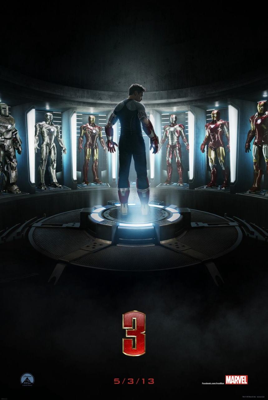 映画『アイアンマン3 (2013) IRON MAN 3』ポスター(2)▼ポスター画像クリックで拡大します。