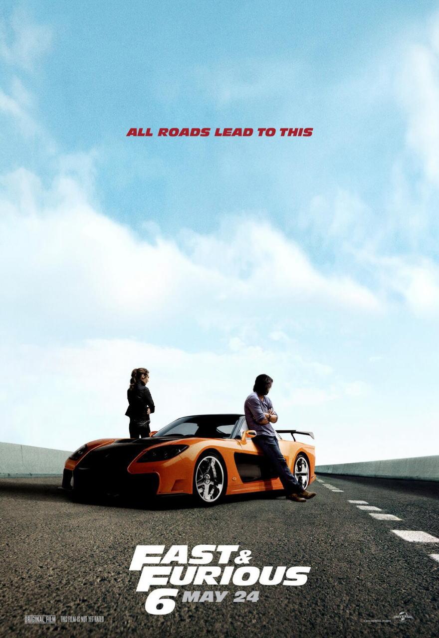 映画『ワイルド・スピード EURO MISSION (2013) FAST & FURIOUS 6』ポスター(4) ▼ポスター画像クリックで拡大します。