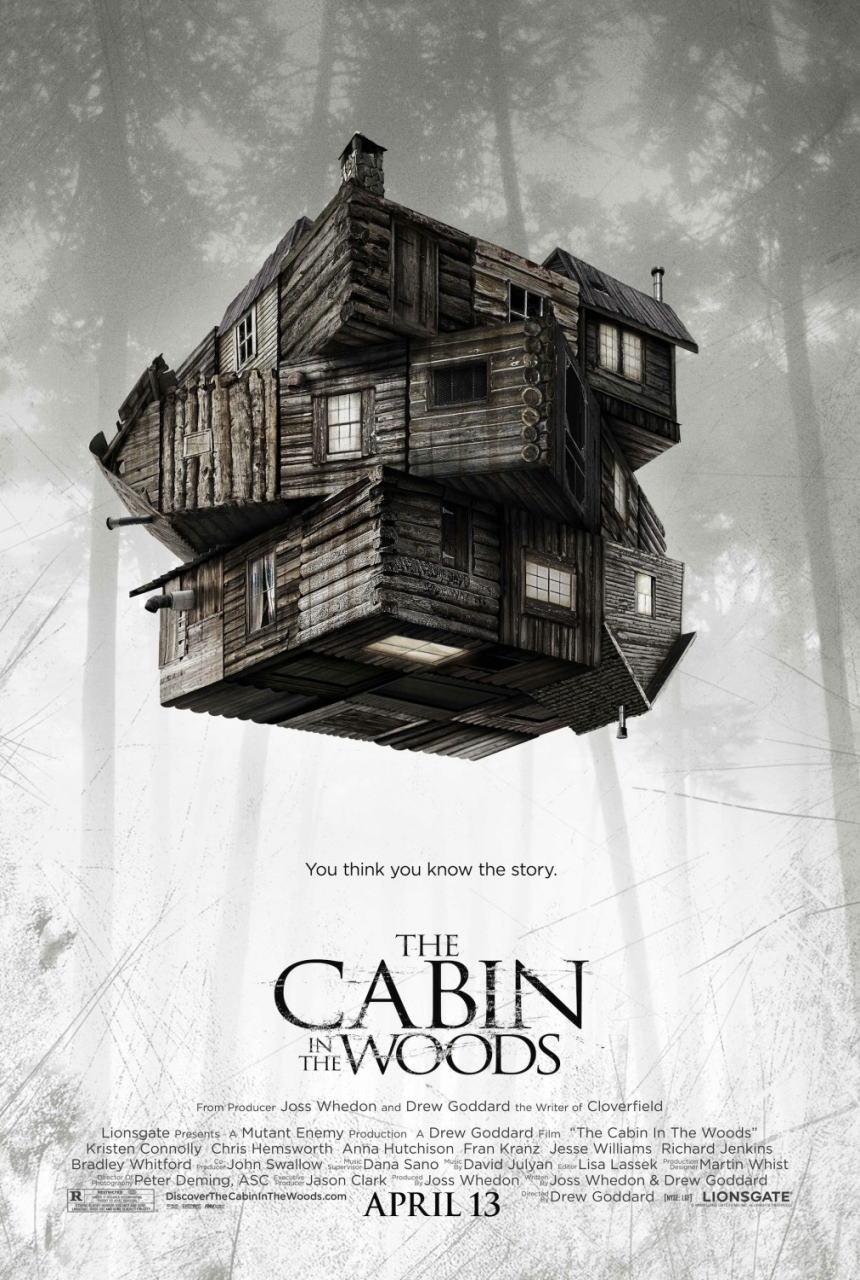 映画『キャビン THE CABIN IN THE WOODS』ポスター(1)▼ポスター画像クリックで拡大します。