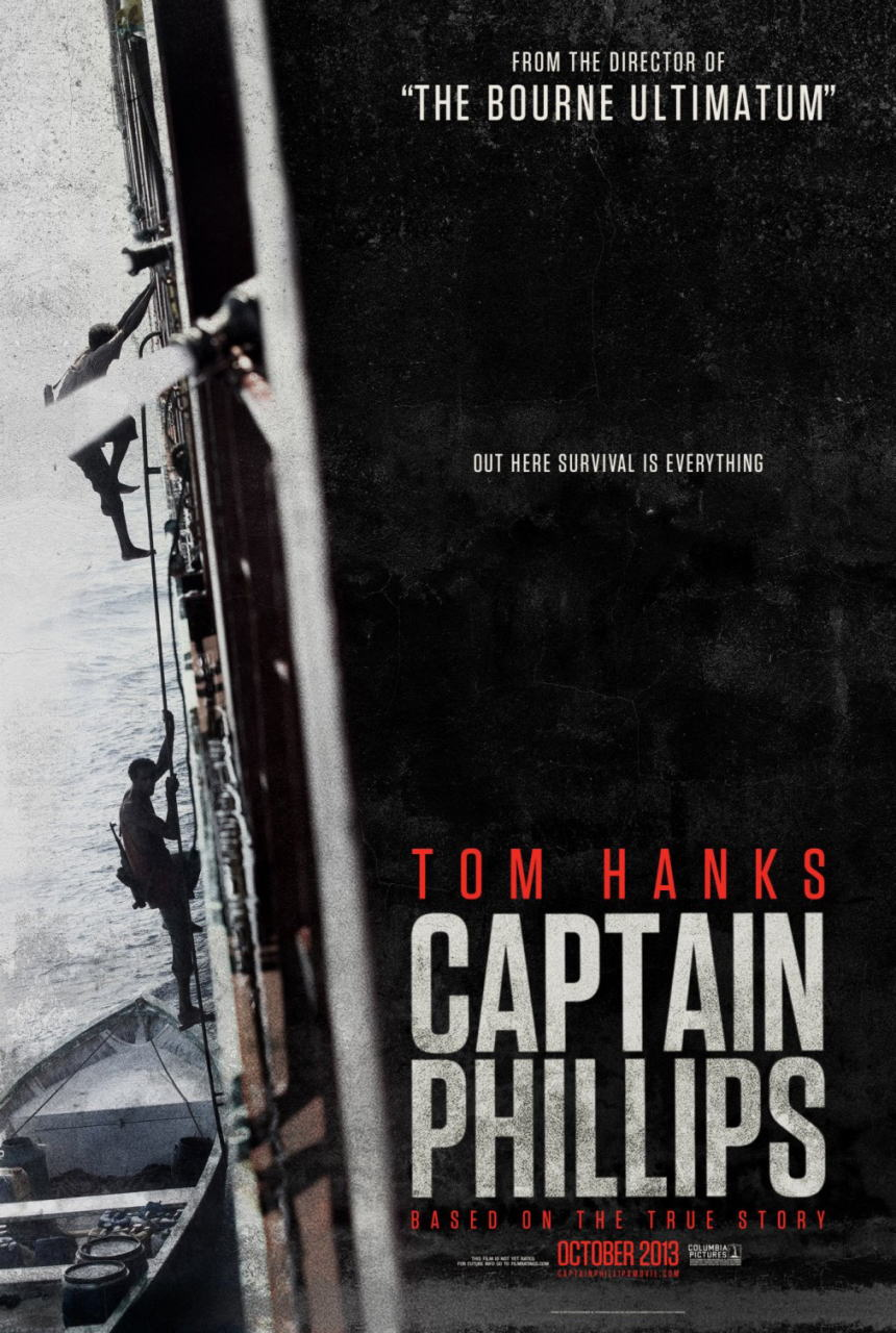 映画『キャプテン・フィリップス (2013) CAPTAIN PHILLIPS』ポスター(1) ▼ポスター画像クリックで拡大します。