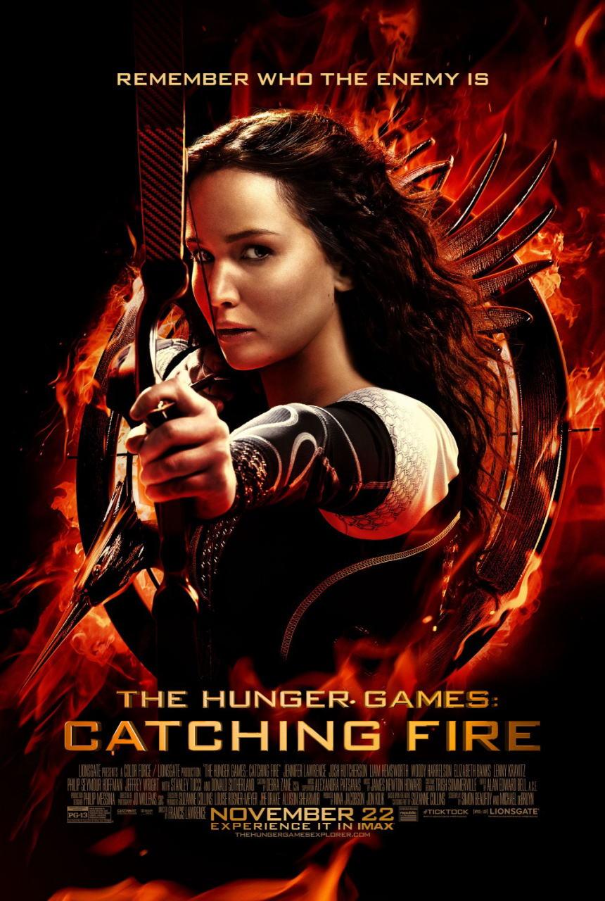 映画『ハンガー・ゲーム2 (2013) THE HUNGER GAMES: CATCHING FIRE』ポスター(1) ▼ポスター画像クリックで拡大します。