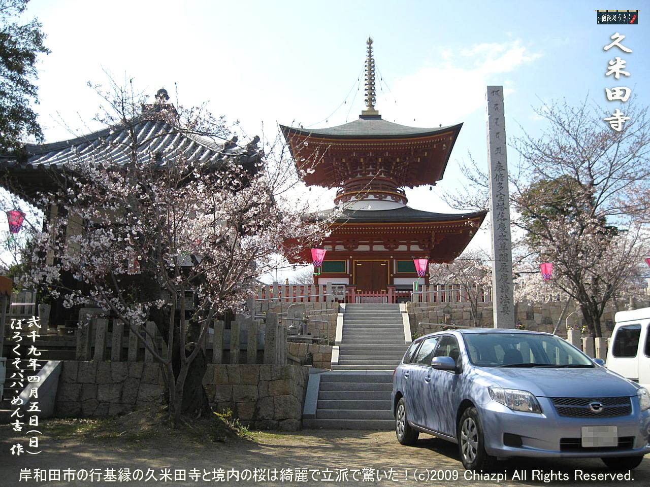 4/5(日)【久米田寺】岸和田市の行基縁の久米田寺と境内の桜は綺麗で立派で驚いた!@キャツピ&めん吉の【ぼろくそパパの独り言】     ▼クリックで1280x960pxlsに拡大します。