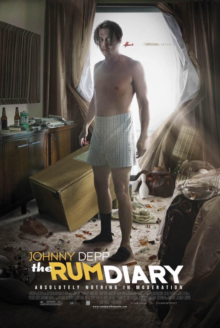 映画『ラム・ダイアリー THE RUM DIARY』ポスター(3) ▼ポスター画像クリックで拡大します。