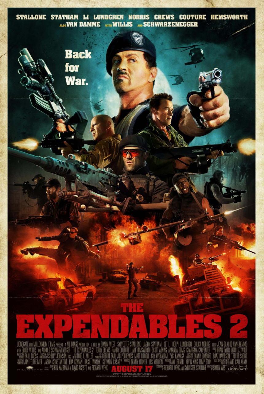 映画『エクスペンダブルズ2 PROMETHEUS』ポスター(3) ▼ポスター画像クリックで拡大します。