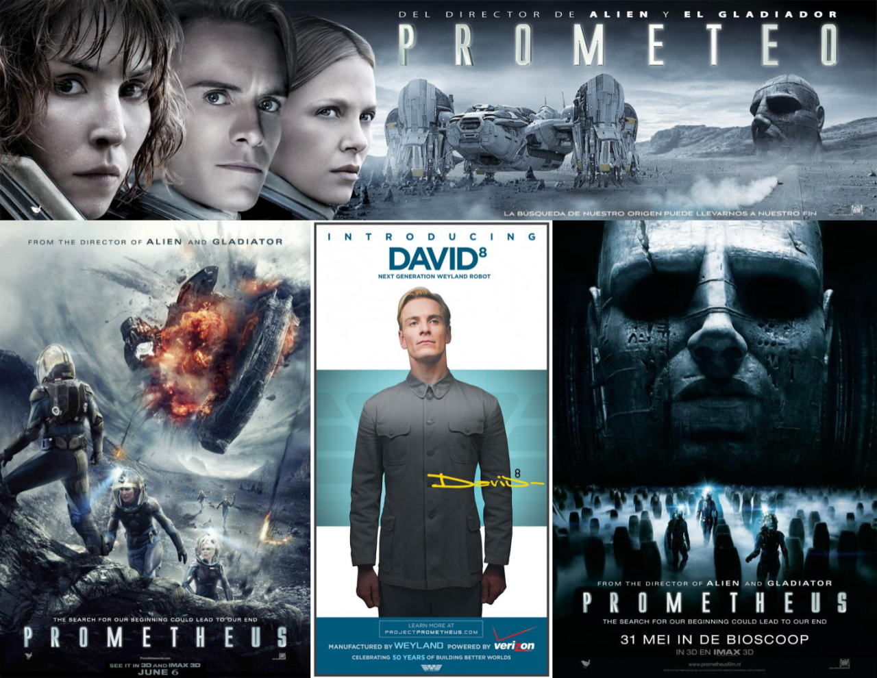 映画『プロメテウス PROMETHEUS』ポスター(8)▼ポスター画像クリックで拡大します。