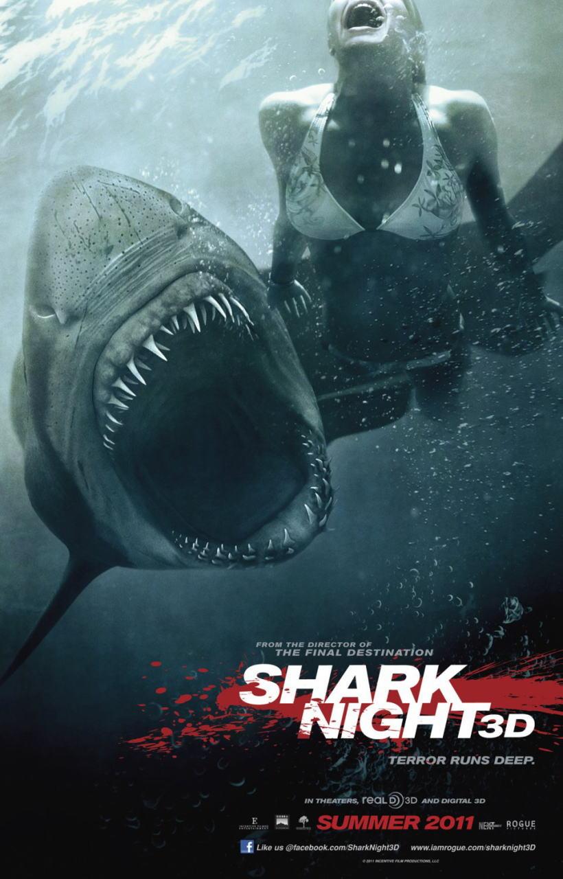 映画『シャーク・ナイト SHARK NIGHT 3D』ポスター(2) ▼ポスター画像クリックで拡大します。