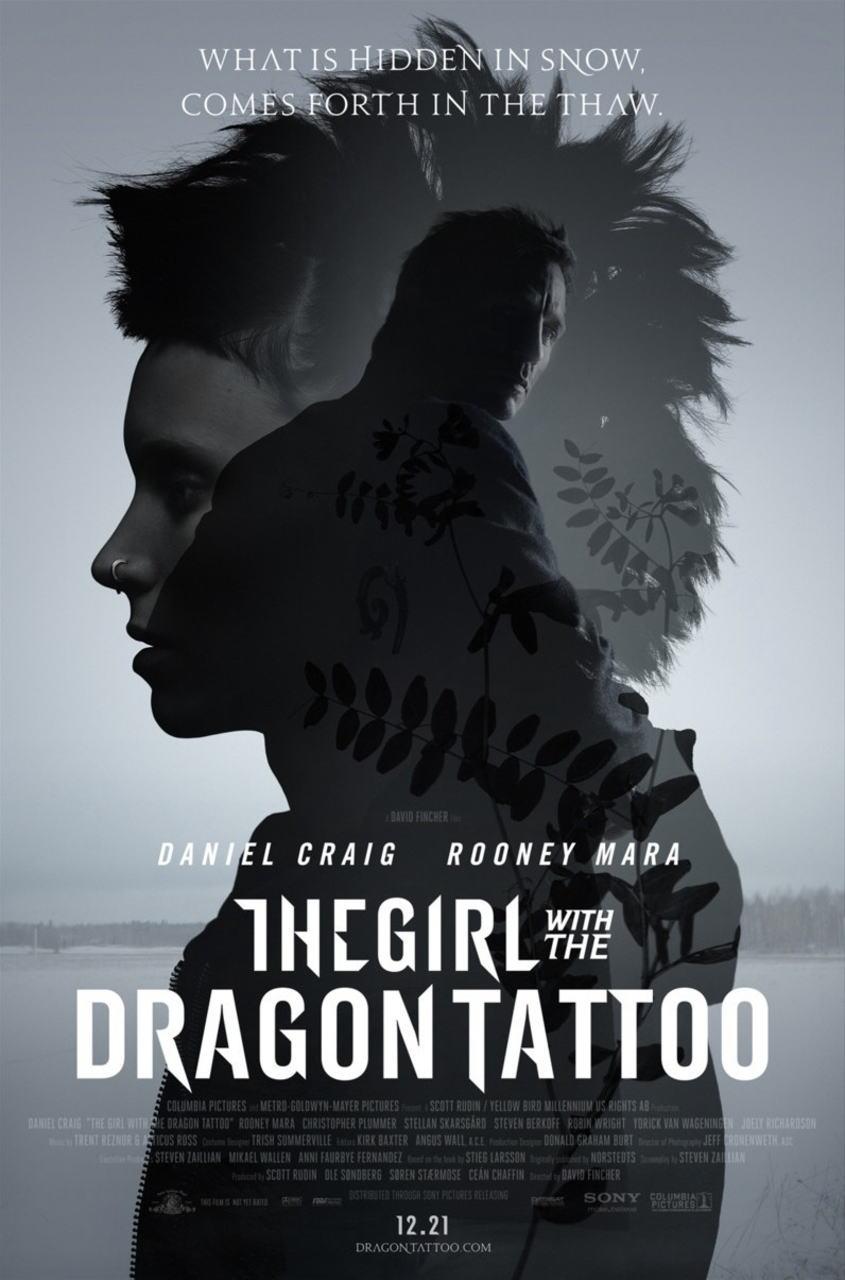 映画『ドラゴン・タトゥーの女 THE GIRL WITH THE DRAGON TATTOO』ポスター(1)