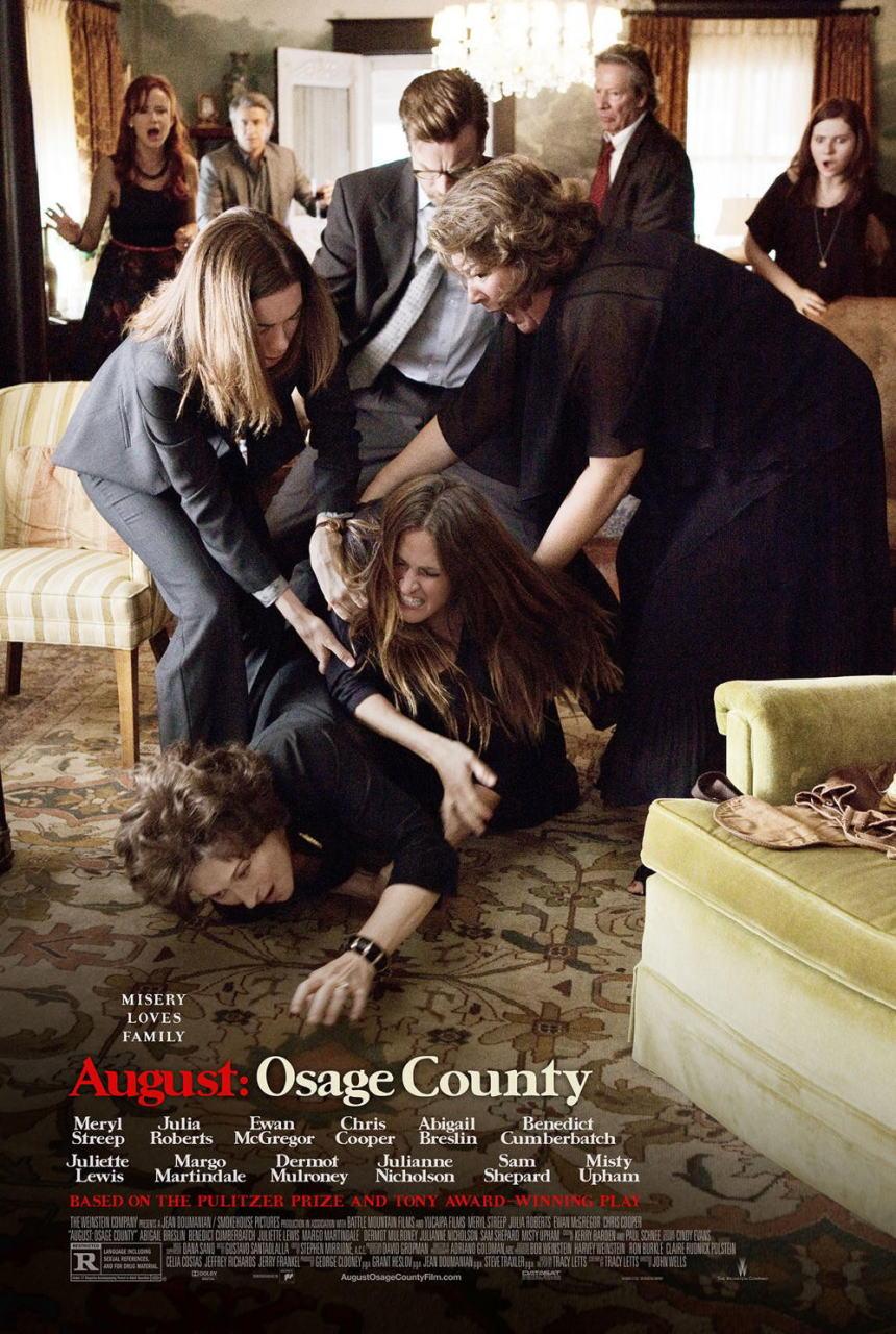 映画『8月の家族たち (2013) AUGUST: OSAGE COUNTY』ポスター(1)▼ポスター画像クリックで拡大します。