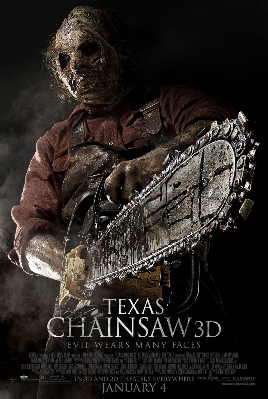 映画『飛びだす 悪魔のいけにえ レザーフェイス一家の逆襲 TEXAS CHAINSAW 3D』ポスター(1)▼ポスター画像クリックで拡大します。