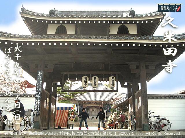 4/5(日)【久米田寺】岸和田市の行基縁の久米田寺と境内の桜は綺麗で立派で驚いた!@キャツピ&めん吉の【ぼろくそパパの独り言】     ▼クリックで元の画像が拡大します。