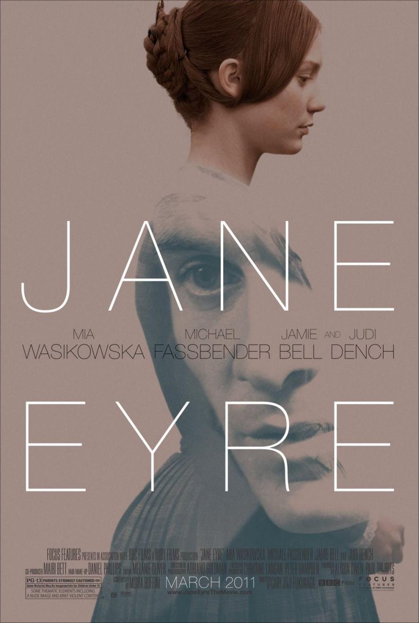 映画『ジェーン・エア JANE EYRE』ポスター(1)▼ポスター画像クリックで拡大します。