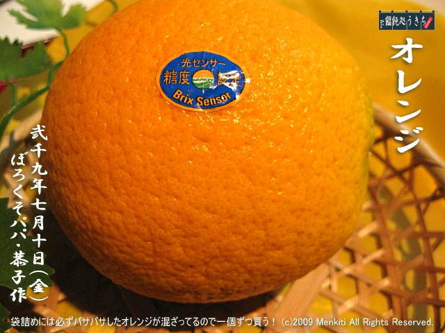 7/10(金)【オレンジ】袋詰めには必ずパサパサしたオレンジが混ざってるので一個ずつ買う! @キャツピ&めん吉の【ぼろくそパパの独り言】      ▼クリックで元の画像が拡大します。
