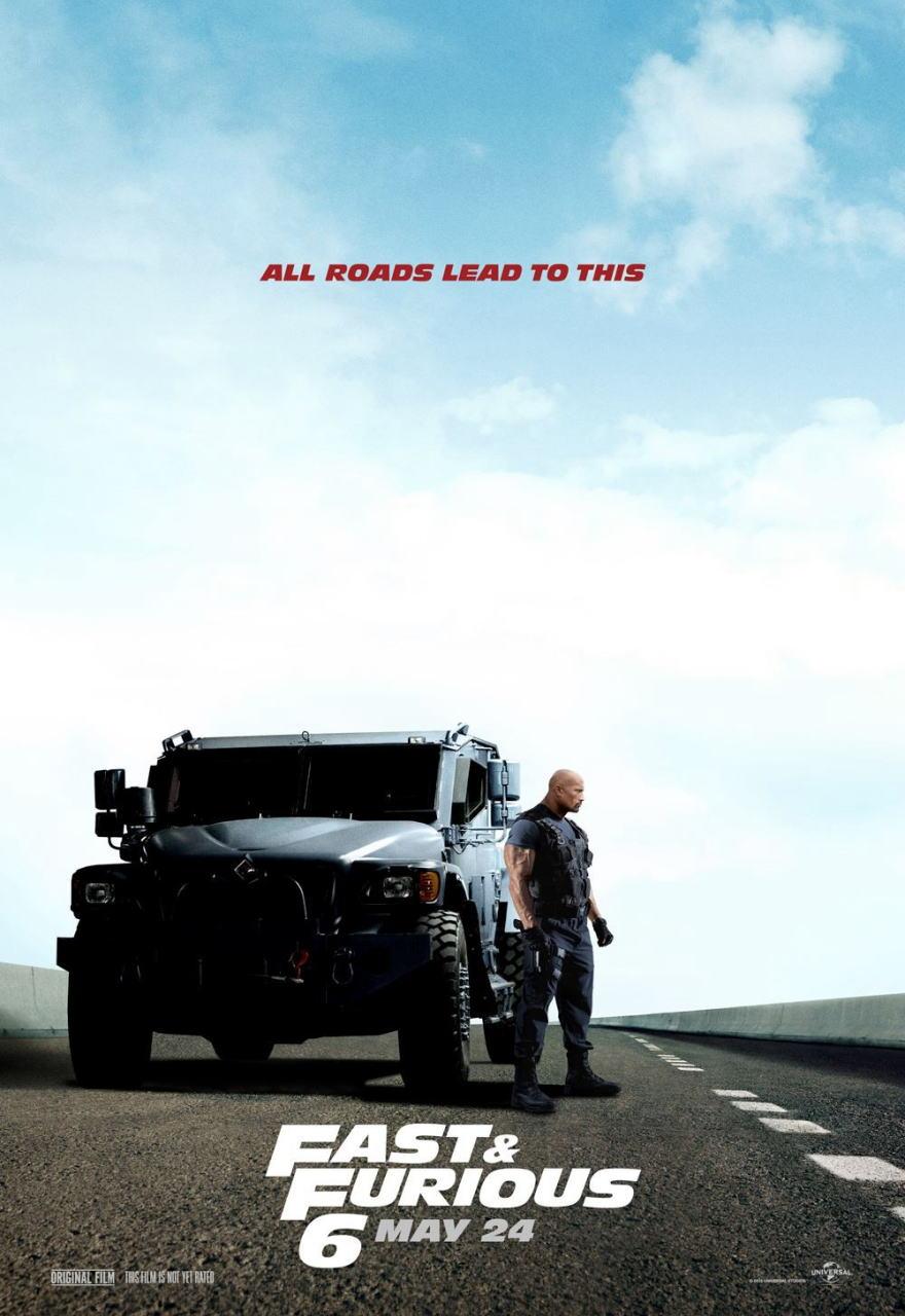 映画『ワイルド・スピード EURO MISSION (2013) FAST & FURIOUS 6』ポスター(6) ▼ポスター画像クリックで拡大します。