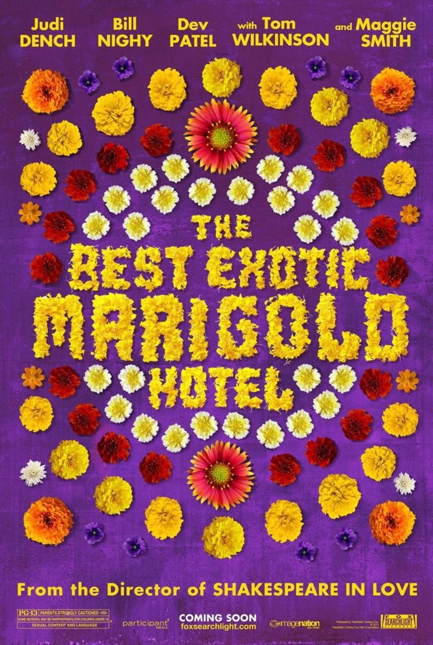 映画『マリーゴールド・ホテルで会いましょう THE BEST EXOTIC MARIGOLD HOTEL』ポスター(3)▼ポスター画像クリックで拡大します。