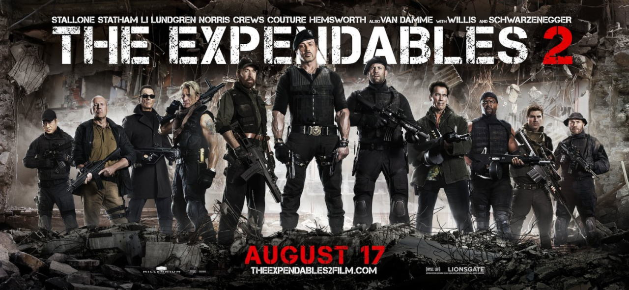 映画『エクスペンダブルズ2 PROMETHEUS』ポスター(6) ▼ポスター画像クリックで拡大します。