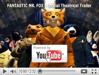 ※クリックでYouTube『ファンタスティック Mr.FOX FANTASTIC MR. FOX』予告編へ