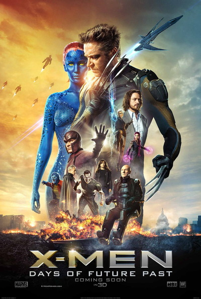 映画『X-MEN:フューチャー&パスト (2014) X-MEN: DAYS OF FUTURE PAST』ポスター(1) ▼ポスター画像クリックで拡大します。