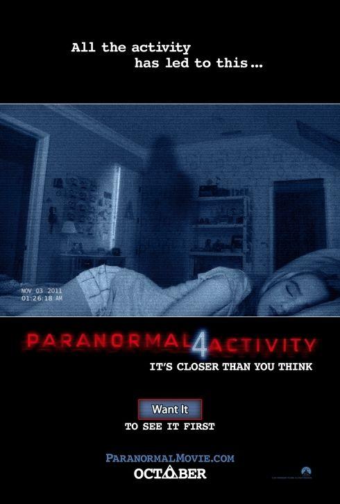 映画『パラノーマル・アクティビティ4 PARANORMAL ACTIVITY 4』ポスター(1)▼ポスター画像クリックで拡大します。