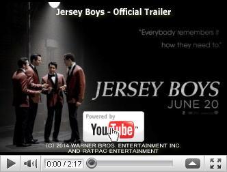 ※クリックでYouTube『ジャージー・ボーイズ JERSEY BOYS』予告編へ
