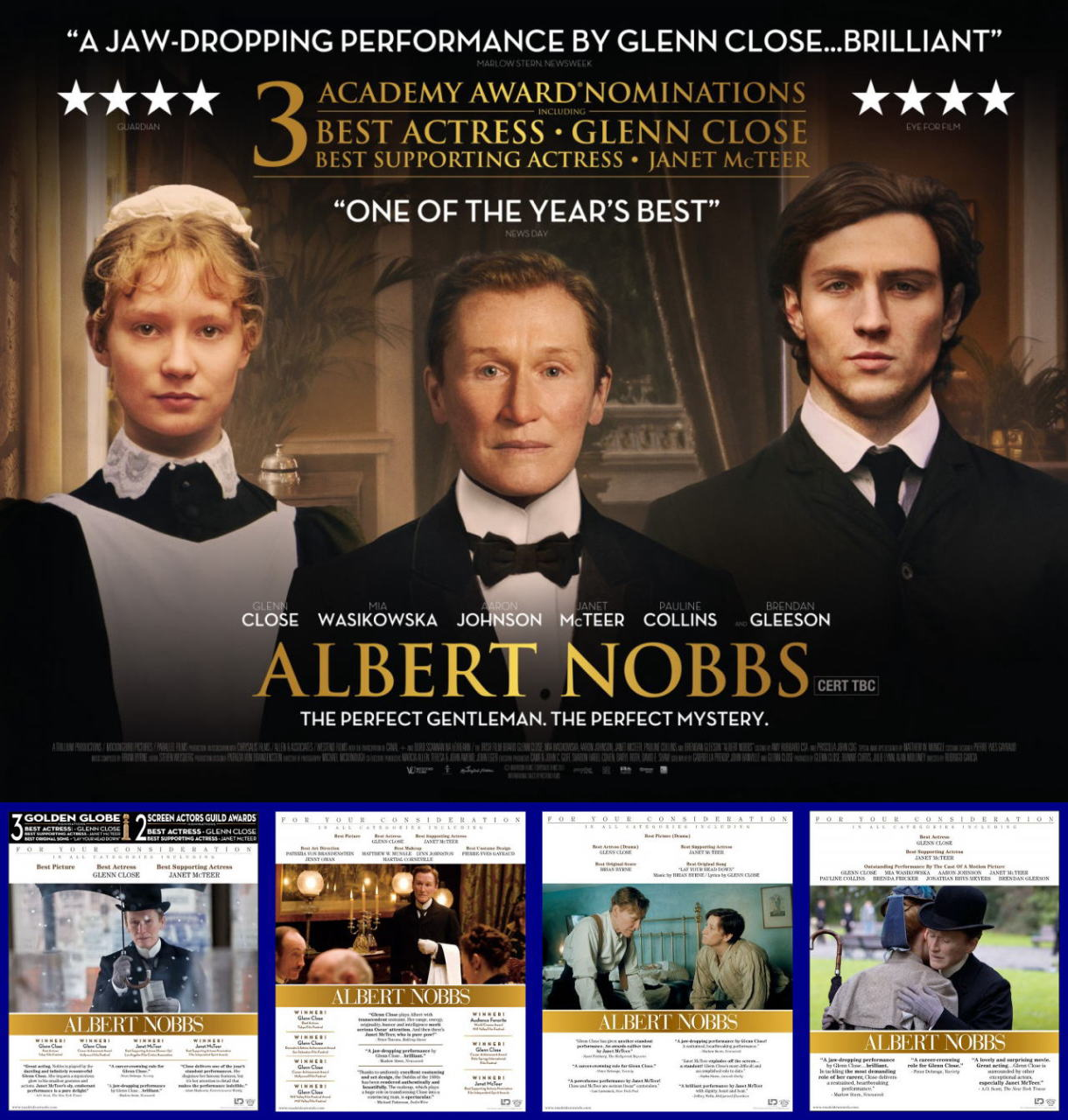 映画『アルバート氏の人生 ALBERT NOBBS』ポスター(4)▼ポスター画像クリックで拡大します。