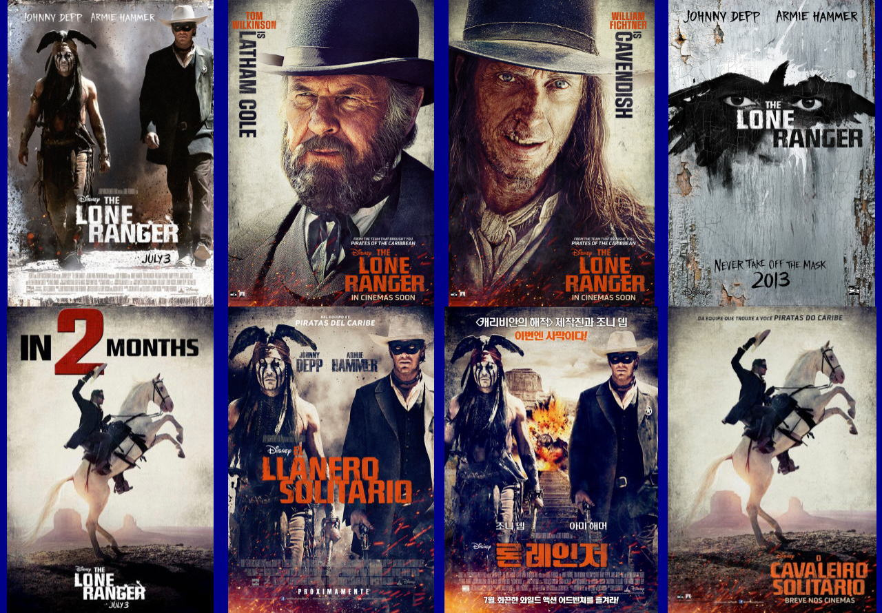 映画『ローン・レンジャー (2013) THE LONE RANGER』ポスター(8)▼ポスター画像クリックで拡大します。