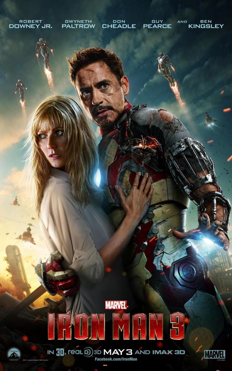 映画『アイアンマン3 (2013) IRON MAN 3』ポスター(4)▼ポスター画像クリックで拡大します。