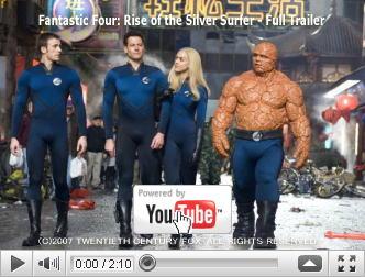 ※クリックでYouTube『ファンタスティック・フォー:銀河の危機 FANTASTIC FOUR: RISE OF THE SILVER SURFER』予告編へ