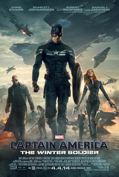 映画『キャプテン・アメリカ/ウィンター・ソルジャー (2014) CAPTAIN AMERICA: THE WINTER SOLDIER』ポスター(1) ▼ポスター画像クリックで拡大します。