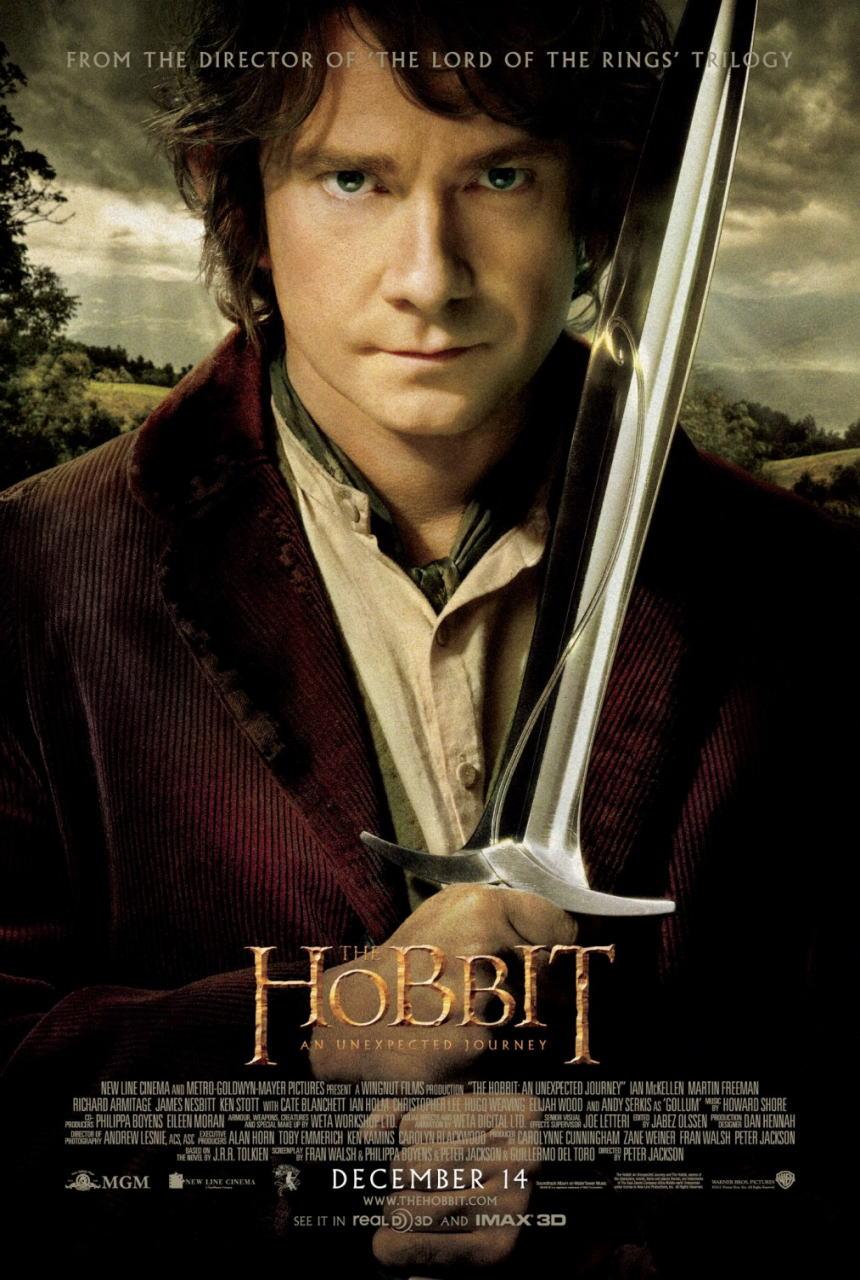 映画『ホビット 思いがけない冒険 THE HOBBIT: AN UNEXPECTED JOURNEY』ポスター(1) ▼ポスター画像クリックで拡大します。